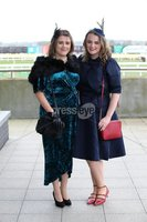 Press Eye - Belfast - Northern Ireland - 3rd November 2018 . Down Royal Festival of Racing - Day 2. Eileen Moss and Tammy Morgan pictured at Down Royal . Photo by Kelvin Boyes / Press Eye..