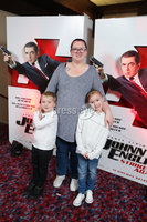 Press Eye - Belfast - Northern Ireland - 30th September 2018 - . Ellie, Lucas and Stacey Givens pictured at Movie House Dublin Road for a special preview screening of upcoming comedy, JOHNNY ENGLISH STRIKES AGAIN, in cinemas across Northern Ireland from Friday 5th October.. Photo by Kelvin Boyes / Press Eye..