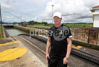 Press Eye - Belfast -  Northern Ireland - 28th May 2018 - Photo by William Cherry/Presseye. Northern Ireland manager Michael O\'Neill at the Panama Canal on Monday morning as part of their summer tour to Panama and Cost Rica. The Canal is a 77.1-kilometre ship canal in Panama that connects the Atlantic Ocean to the Pacific Ocean. Photo by William Cherry/Presseye