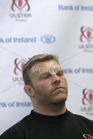 ©Press Eye Ltd Northern Ireland . Ulster\'s Nigel Brady speaking to the press at todays Ulster Rugby press conference ahead of Saturdays Rabo-Direct Pro 12 game against Munster at Thomond Pk. . Mandatory Credit-. Picture by BrianThompsonPresseye.com .