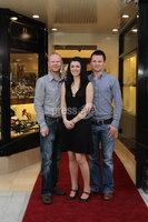 ©Press Eye Ltd Northern Ireland - 28th March 2012. Mandatory Credit - Picture by Darren Kidd/Presseye.com .  .  Jack Murphy Jewellers of Newry -  Casey Morgan,  Seta McEvoy and Kevin Parkes