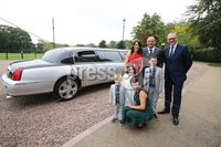 Press Eye - Belfast - Northern Ireland - 8th September 2018 - . Rory Best and wife Jodie along with his children Ben, Penny and Richie pictured with Lord Mayor, Cllr Julie Flaherty and Armagh City, Banbridge and Craigavon Council CEO Roger Wilson at the Archbishop's Palace in Armagh along with friends and family of Dr Rory Best OBE to witness the sportsman's conferment with the Freedom of the Borough of Armagh City, Banbridge and Craigavon..  . Photo by Kelvin Boyes / Press Eye..