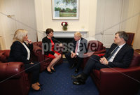 Press Eye - Belfast, Northern Ireland - 13th January 2020 - Photo by William Cherry/Presseye. First Minister Arlene Foster and deputy First Minister Michelle ONeill meet with Prime Minister Boris Johnson and Secretary of State Julian Smith.   Photo by William Cherry/Presseye
