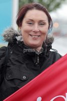 Northern Ireland- 10th May 2012 Mandatory Credit - Photo-Jonathan Porter/Presseye.  Unions strike over public sector pension cuts.  Members of Nipsa, Unite, the Public and Commercial Services Union (PCS) and the University and College Union (UCU) hold a 24-hour strike  over the cuts.  Felicity Thompson pictured outside the Ulster Hospital in east Belfast.