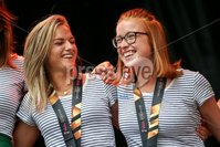 Irish Hockey Team Homecoming, Dublin 6/8/2018. Ireland\'s Chloe Watkins and Zoe Wilson. Mandatory Credit  ©INPHO/Tommy Dickson