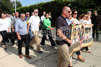 Press Eye - Republican Parade - Castlewellan - 5th August 2018. Photograph by Declan Roughan. A major hunger strike commemoration took place in a Co Down town. The march in Castlewellan was attended by Sinn Fein President Mary Lou McDonald.. It marks the anniversary of the deaths of 10 republican hunger strikers, including Bobby Sands and Raymond McCreesh in 1981.. In previous years tens of thousands of republicans have attended the event, which changes location annually.. Relatives of IRA victims have accused Sinn Fein of