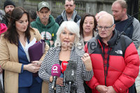 Press Eye - Historical Abuse Survivors - Court Of Appeal - 4th November 2019. Photograph by Declan Roughan. Margaret Mc Guckin SAVIA (Survivors & Victims of Institutional Abuse) and survivors outside the High Court In Belfast.. NI court of appeal rules civil servants can start compensation scheme for victims of historical abuse.. The court of appeal in Northern Ireland has ruled that the Executive Office has the power to bring forward a compensation scheme for victims of historical institutional abuse.. It follows a case brought by a survivor of historical abuse referred to in court as JR80 to see compensation payments made to victims in the absence of devolved ministers.. The ruling comes as Westminster considers legislation to introduce compensation payments before Parliament is dissolved on Tuesday ahead of the General Election..