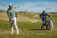2018 Dubai Duty Free Irish Open - Day 1, Ballyliffin Golf Club, Co. Donegal 5/7/2018. Rory McIlroy and Harry Diamond on the 15th hole. Mandatory Credit ©INPHO/Oisin Keniry