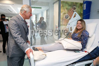 Press Eye - Belfast - Northern Ireland - 13th June 2018 - . The Prince of Wales has visited the Omagh Hospital and Community Care Complex in County Tyrone. His two-day visit to Northern Ireland began in Belfast earlier on Tuesday. The Omagh Hospital and Primary Care Complex opened to patients on 20 June 2017 and provides a range of hospital and community healthcare services together in one place. It ushered in a new era of joined up health care provision in the district.  It replaces the 118-year-old Tyrone County Hospital and investment in new equipment and technologies have improved patient care. The new hospital in Omagh has a 24-hour Urgent Care and Treatment Centre which provides cardiac assessment, a treatment room, x-ray and scans.. The Prince of Wales is pictured meeting patient  Eamie Gormley at the hospital..  . Photo by Kelvin Boyes / Press Eye..