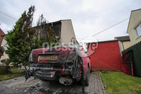 PressEye - Belfast - Northern Ireland - 11th September 2018. Pictured: The scene of an arson attack at a residential premises in Templeton Park, Templepatrick.. Picture: Philip Magowan / PressEye