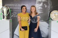 Press Eye - Belfast - Northern Ireland - 8th September 2018 - . Alex and Gemma Bell pictured at the Archbishop's Palace in Armagh along with friends and family of Dr Rory Best OBE to witness the sportsman's conferment with the Freedom of the Borough of Armagh City, Banbridge and Craigavon..  . Photo by Kelvin Boyes / Press Eye..