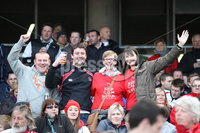 ©Press Eye Ltd Northern Ireland -28th April 2012. Mandatory Credit - Picture by Darren Kidd/Presseye.com .  . HEINEKEN CUP SEMI-FINAL: ULSTER V EDINBURGH, AVIVA STADIUM, DUBLIN..  Ulster fan\'s at the Aviva Stadium ahead of Saturday\'s Heineken Cup semi-final