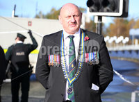 Press Eye Belfast - Northern Ireland 12th November 2017. The scene on Durmragh Avenue in Omagh where a security alert is taking place.  A Remembrance Day ceremony at the town\'s Cenotaph was called off due to the alert. . Chairman of the local Royal British Legion Richard Scott pictured at the scene. . Picture by Jonathan Porter/PressEye.com