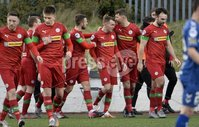 9th January 2021. Danske Bank Premiership, Solitude, Belfast . Cliftonville vs Crusaders. Cliftonville\'s  Rory Hale celebrates his goal. Mandatory Credit INPHO/Stephen Hamilton
