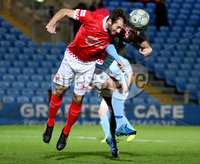 BetMcLean League Cup Round 3, Ballymena Showgrounds, Ballymena 10/10/2017. Ballymena United vs Portadown. Ballymena United\'s Kevin Braniff and Adam McCallum of Portadown. Mandatory Credit ©INPHO/Brian Little
