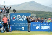 2018 Dubai Duty Free Irish Open, Ballyliffin Golf Club, Co. Donegal 8/7/2018. Aaron Rai on the first tee. Mandatory Credit ©INPHO/Presseye/Kelvin Boyes