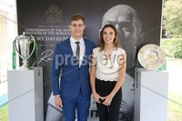 Press Eye - Belfast - Northern Ireland - 8th September 2018 - . Andrew and Anna Trimble pictured at the Archbishop's Palace in Armagh along with friends and family of Dr Rory Best OBE to witness the sportsman's conferment with the Freedom of the Borough of Armagh City, Banbridge and Craigavon..  . Photo by Kelvin Boyes / Press Eye..