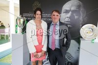 Press Eye - Belfast - Northern Ireland - 8th September 2018 - . Karen Feighan and Darren McNally pictured at the Archbishop's Palace in Armagh along with friends and family of Dr Rory Best OBE to witness the sportsman's conferment with the Freedom of the Borough of Armagh City, Banbridge and Craigavon..  . Photo by Kelvin Boyes / Press Eye..