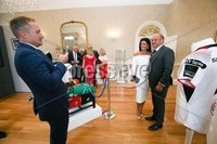 Press Eye - Belfast - Northern Ireland - 8th September 2018 - . Rory Best with Ryan and Kin Constable at the Archbishop's Palace in Armagh along with friends and family of Dr Rory Best OBE to witness the sportsman's conferment with the Freedom of the Borough of Armagh City, Banbridge and Craigavon..  . Photo by Kelvin Boyes / Press Eye..