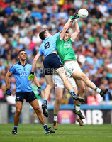 GAA Football All Ireland Senior Championship Quarter-Final, Croke Park, Dublin 2/8/2015. Dublin vs Fermanagh. Dublin\'s Brian Fenton and Richard O'Callaghan of Fermanagh. Mandatory Credit ©INPHO/Cathal Noonan