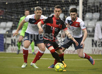 . Danske Bank Premiership, Seaview, Belfast 13/1/2018. Crusaders vs Ards. Crusaders Paul Heatley  in action with Ards Michael Ruddy. Mandatory Credit ©INPHO/Stephen Hamilton