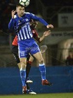 . Danske Bank Premiership, The Showgrounds, Co. Armagh 2/11/2018. Newry City vs Crusaders. Newry\'s Mark McCabe in action with Crusaders  Sean Ward. Mandatory Credit INPHO/Stephen Hamilton.