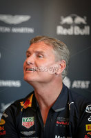 27th October 2018 - Picture by Matt Mackey / PressEye.com. Scottish motorsports legend, David Coulthard pictured as Red Bull Racing host a press conference ahead of the Red Bull F1 Showrun event on Saturday evening in Belfast City centre.