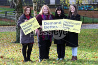 Press Eye - Alliance Party - Electoral Office NI - 12th November 2019. Photograph by Declan Roughan. (L-R) Donna Marie Higgins, Naomi Long, Paula Bradshaw and Nuala Mc Allister.