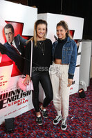 Press Eye - Belfast - Northern Ireland - 30th September 2018 - . Leah McCourt and Emma Zacharopoulou pictured at Movie House Dublin Road for a special preview screening of upcoming comedy, JOHNNY ENGLISH STRIKES AGAIN, in cinemas across Northern Ireland from Friday 5th October.. Photo by Kelvin Boyes / Press Eye..