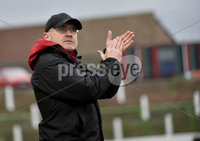 29/02/20. Sadlers Peaky Blinders Irish Cup Quarter final between Glentoran  and Crusaders at the Oval Belfast. Glentorans manager Mick McDermott . Mandatory Credit - Inpho/Stephen Hamilton.