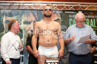 Press Eye - Belfast - Northern Ireland - 29th June 2018. Weigh in at the Europa Hotel in Belfast ahead of Michael Conlan\'s homecoming fight against Brazilian Adeilson Dos Santos at the SSE Arena on Saturday night. . Richard Hegyi weighs in. . Picture by Jonathan Porter/PressEye