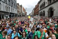 Irish Hockey Team Homecoming, Dublin 6/8/2018. A view of the crowds on Dame Street. Mandatory Credit  ©INPHO/Tommy Dickson