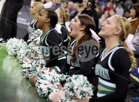 Press Eye - Belfast -  Northern Ireland - 02nd December 2017 - Photo by William Cherry/Presseye. Manhattan College\'s cheerleaders during Saturday evenings Championship game of the Basketball Hall of Fame Belfast Classic at the SSE Arena, Belfast.  Photo by William Cherry/Presseye
