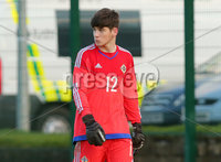 Press Eye Belfast - Northern Ireland 28th November 2017. School boys International - Northern Ireland Vs Poland at the Dub in south Belfast. . Northern Ireland\'s goalkeeper Conor Byrne. Picture by Jonathan Porter/PressEye.com