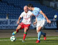 6th October 2018 - Picture by Matt Mackey/Presseye.com. Danske Bank Premiership football.. Ballymena v Newry City.. Ballymena\'s in action with from Newry City