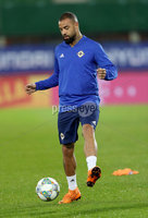 Press Eye - Belfast -  Northern Ireland - 11th October 2018 - Photo by William Cherry/Presseye. Northern Ireland\'s Kyle Vassell during Thursday nights training session at the Ernst Happel Stadium in Vienna, ahead of their UEFA Nations League game against Austria.