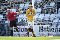 Press Eye - Belfast - Northern Ireland - 30th June 2018. Jordan Owens testimonial match between Crusaders and Motherwell at Seaview Belfast.. Motherwells  Danny Johnstone celebrates after he   heads in at the back post to win the game for the visitors.. Mandatory Credit: Presseye/Stephen Hamilton