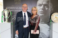 Press Eye - Belfast - Northern Ireland - 8th September 2018 - . Paul Duffy and Ciara McCann pictured at the Archbishop's Palace in Armagh along with friends and family of Dr Rory Best OBE to witness the sportsman's conferment with the Freedom of the Borough of Armagh City, Banbridge and Craigavon..  . Photo by Kelvin Boyes / Press Eye..