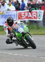 Mandatory Credit: Rowland White/Presseye. Motor Cycle Racing: Tandragee 100. Venue: Tandragee. Date: 05th April 2012. Caption: Andy Farrell, 400cc