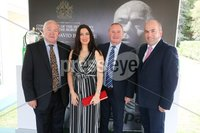 Press Eye - Belfast - Northern Ireland - 8th September 2018 - . Seamus Doyle, Sharon Haughey, Declan McAlinden and Thomas O\'Hanlon pictured at the Archbishop's Palace in Armagh along with friends and family of Dr Rory Best OBE to witness the sportsman's conferment with the Freedom of the Borough of Armagh City, Banbridge and Craigavon..  . Photo by Kelvin Boyes / Press Eye..