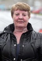 Northern Ireland- 10th May 2012 Mandatory Credit - Photo-Jonathan Porter/Presseye.  Unions strike over public sector pension cuts.  Members of Nipsa, Unite, the Public and Commercial Services Union (PCS) and the University and College Union (UCU) hold a 24-hour strike  over the cuts.  Barbara Wilson pictured outside the Ulster Hospital in east Belfast.