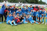 PressEye-Northern Ireland- 27th   July  2018-Picture by Brian Little/PressEye. SuperCupNI. Premier   Section . Serie B Italia celebrate after defeating Co Down 2-0 during the SuperCupNI Premier  Final  at Ballymena Showgrounds. . Picture by Brian Little/PressEye