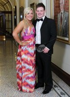 ©Press Eye Ltd Northern Ireland -24th April 2012. Mandatory Credit - Picture by Darren Kidd/Presseye.com .  Helping Hand Charity at City Hall.. Pictured are L-R Lisa McKim and Robert Johnston