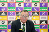 Press Eye - Belfast - Northern Ireland - 10th March 2020. Northern Ireland and Stoke City manager makes his Northern Ireland team announcement ahead of the Euro 2020 play-off away to Bosnia-Herzegovina.  The Northern Ireland manager made the squad announcement at Stoke Citys ground in Stoke-On-Trent where he was appointed manger last year.  The away match in Bosnian city of Zenica is due to be played on Thursday 26 March. . Picture by Jonathan Porter/PressEye
