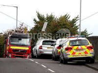 Mandatory Credit - Picture by Freddie Parkinson/Press Eye ©. Friday 14 September 2018. The Ballinderry Road, Lisburn, in the vicinity of the railway bridge, is closed due to an incident. Diversions are in place. Drivers and pedestrians are advised to avoid the area and seek an alternative route.