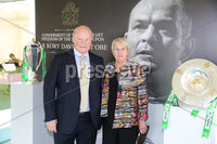 Press Eye - Belfast - Northern Ireland - 8th September 2018 - . Ann and Ronnie McFall pictured at the Archbishop's Palace in Armagh along with friends and family of Dr Rory Best OBE to witness the sportsman's conferment with the Freedom of the Borough of Armagh City, Banbridge and Craigavon..  . Photo by Kelvin Boyes / Press Eye..