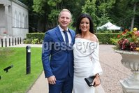 Press Eye - Belfast - Northern Ireland - 8th September 2018 - . Ryan and Kim Constable pictured at the Archbishop's Palace in Armagh along with friends and family of Dr Rory Best OBE to witness the sportsman's conferment with the Freedom of the Borough of Armagh City, Banbridge and Craigavon..  . Photo by Kelvin Boyes / Press Eye..