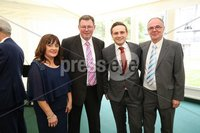 Press Eye - Belfast - Northern Ireland - 8th September 2018 - . Marilyn Bell, Karl Buckley, Jamie Rodgers and Gary Bell pictured at the Archbishop's Palace in Armagh along with friends and family of Dr Rory Best OBE to witness the sportsman's conferment with the Freedom of the Borough of Armagh City, Banbridge and Craigavon..  . Photo by Kelvin Boyes / Press Eye..
