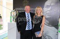 Press Eye - Belfast - Northern Ireland - 8th September 2018 - . Sam and Elaine Moore pictured at the Archbishop's Palace in Armagh along with friends and family of Dr Rory Best OBE to witness the sportsman's conferment with the Freedom of the Borough of Armagh City, Banbridge and Craigavon..  . Photo by Kelvin Boyes / Press Eye..