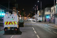 Press Eye - Belfast - Northern Ireland - 11th July  2018 . General view of the security alert on the Newtownards Road in East Belfast caused by an abandoned car.. It comes after the PSNI issued a notice informing the public that paramilitaries intend to orchestrate serious disorder against police officers on the Eleventh night.. Photo by Kelvin Boyes / Press Eye..